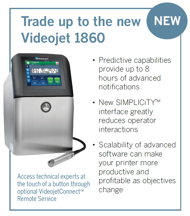 Trade up to the new Videojet 1860